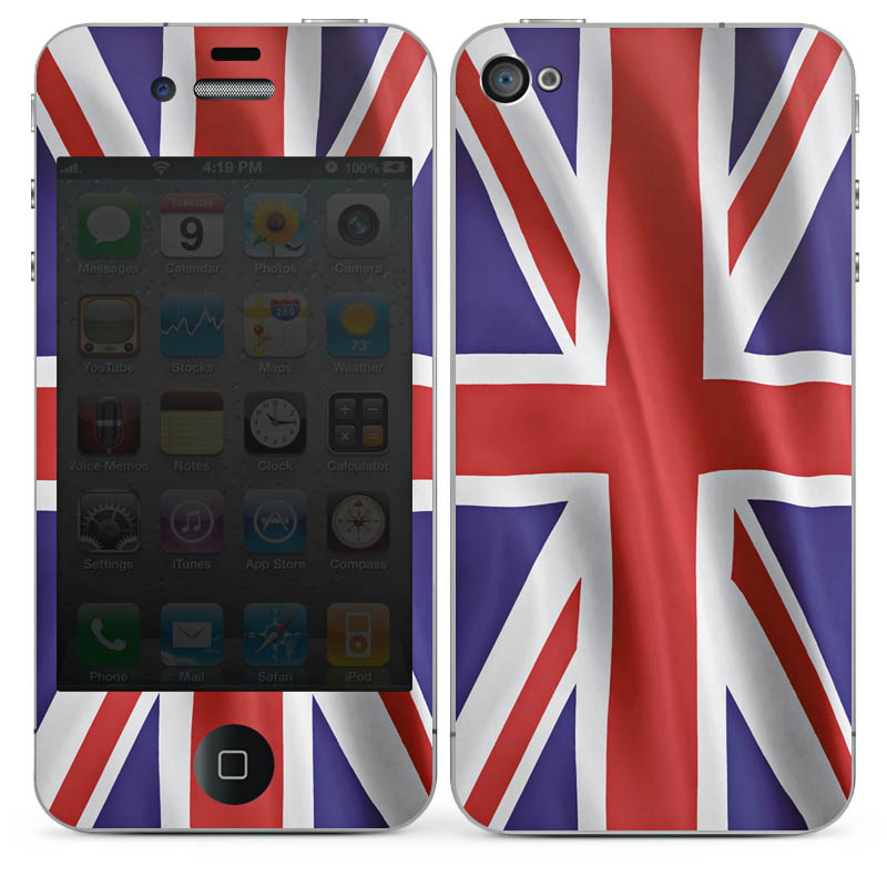 Folien Skins Handy Apple iPhone 4 Design Cover Schutz Designfolien