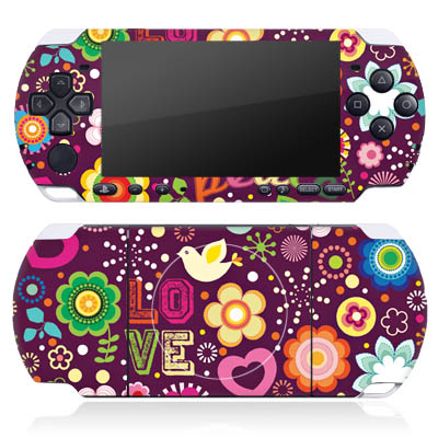 Design-Schutzfolie 60s Love fr PSP-3004 Slim & Lite