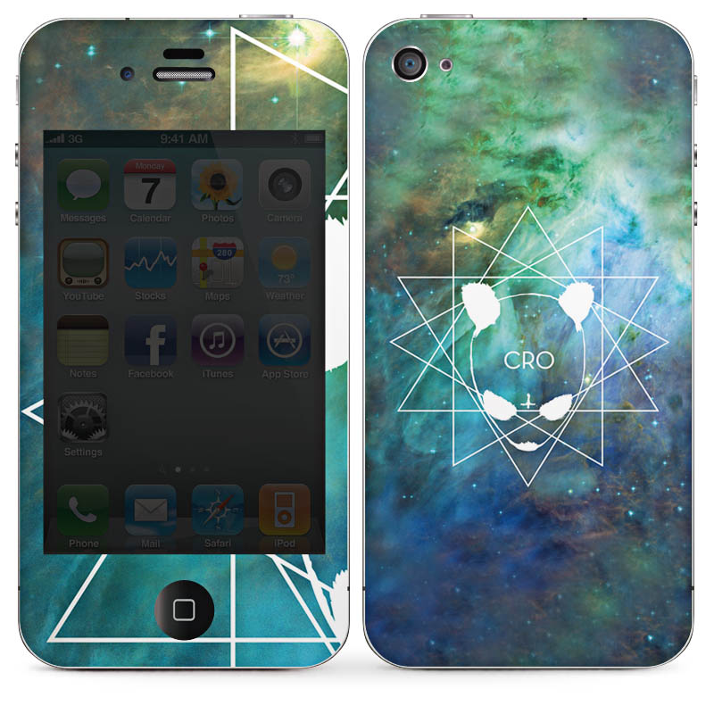 CRO Folien Design-Skins Handy Apple iPhone 4S Design-Cover Schutz Designfolien