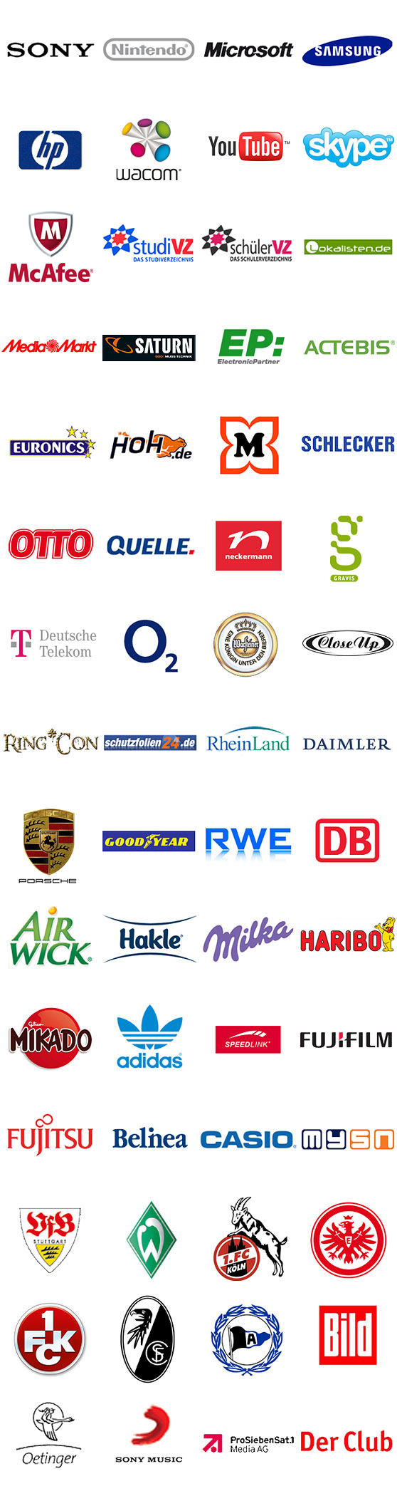 Logo's partner & referenties