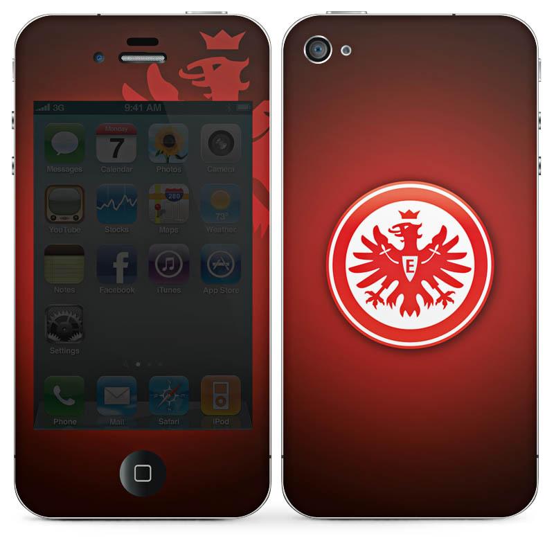 aufkleber sticker handy apple iphone 4s ohne logo cut eintracht frankfurt ebay. Black Bedroom Furniture Sets. Home Design Ideas
